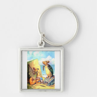 Alice the Griffin & the Mock Turtle in Wonderland Keychain