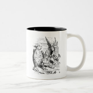 Alice, the Gryphon and the Mock Turtle Dance Mugs