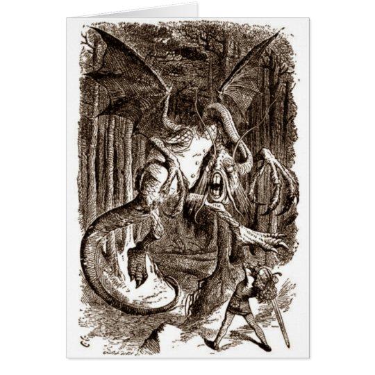 Alice & the Jabberwocky Card
