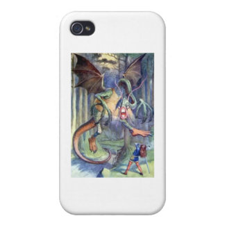Alice & the Jabberwocky Full Color iPhone 4 Cases