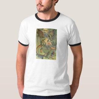 Alice & the Jabberwocky in Full Color T-Shirt