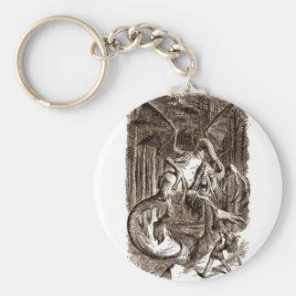 Alice & the Jabberwocky Keychain