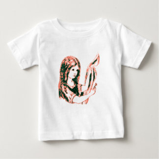 Alice & the Key by Lewis Carroll Pink Tint Baby T-Shirt