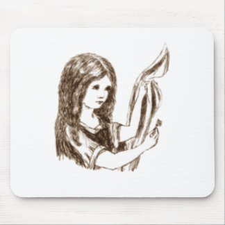 Alice & the Key by Lewis Carroll Sepia Tint Mouse Pad