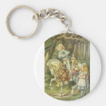 Alice & the Knight in Full Color Key Chains