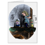 Alice & the Looking Glass Greeting Card