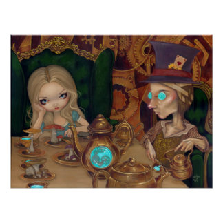 Alice the Mad Hatter steampunk wonderland Print