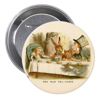 "Alice - The Mad Tea Party - 3"" Button"