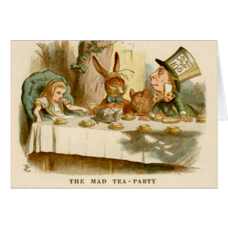 Alice & The Mad Tea Party - Note Card Greeting Card