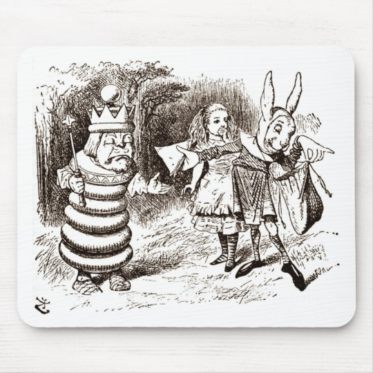 Alice & the Messenger Sepia Mouse Pad
