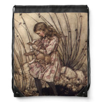 Alice & the Pig Baby by Arthur Rackham Backpack