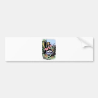 Alice & the Pig Baby in Pastels Bumper Sticker