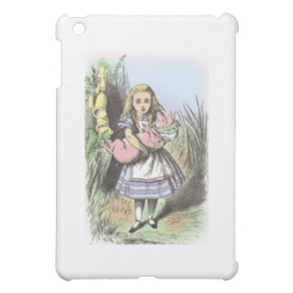 Alice & the Pig Baby in Pastels iPad Mini Case