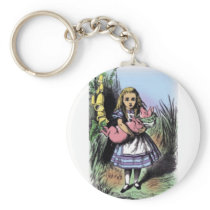 Alice & the Pig Baby in Pastels Keychain