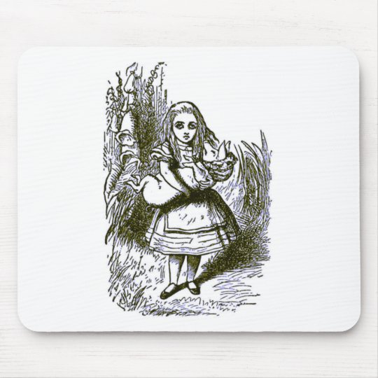 Alice & the Pig Mouse Pad