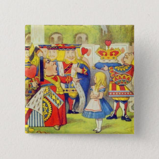 Alice & The Queen Button