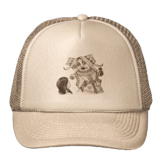Alice & the Queen by Lewis Carroll Sepia Tint Hat