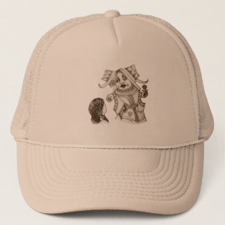 Alice & the Queen by Lewis Carroll Sepia Tint Trucker Hat
