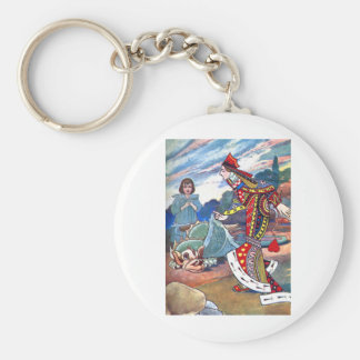 Alice, the Queen of Hearts and the Griffin Keychain