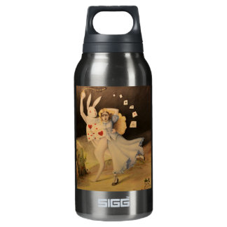 Alice & The Rabbit with Watch - Hand Sketch Insulated Water Bottle