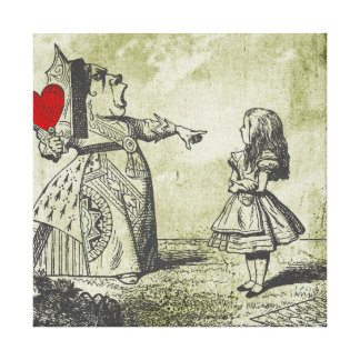 Alice & The Read Queen (Alice in Wonderland) Canvas Print