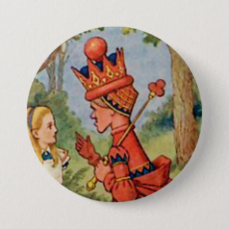 "Alice - The Red Queen - 3"" Button"