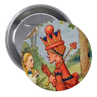 """Alice - The Red Queen - 3"""" Button Pinback Button"""