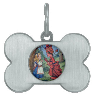 Alice & the Red Queen Pet Tag
