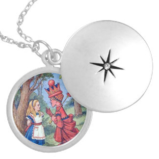 Alice & the Red Queen Silver Plated Necklace