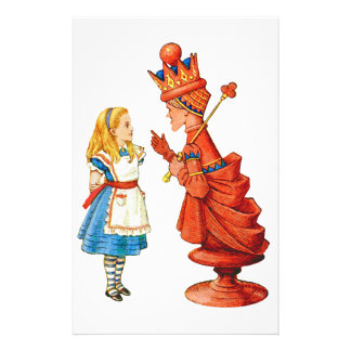 Alice & The Red Queen Stationery