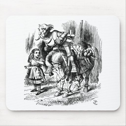 Alice & the White Knight 2 Mousepads