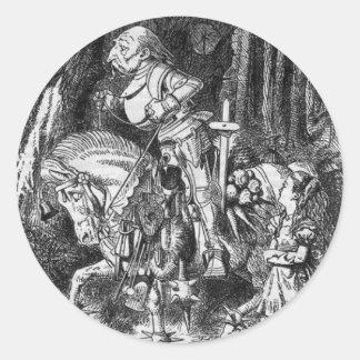 Alice & The White Knight Classic Round Sticker