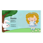 Alice & The White Rabbit Business Card