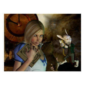 Alice & The White Rabbit Print