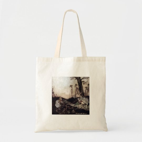 Alice & The White Rabbit Tote Bag