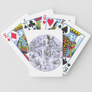 Alice & the Wonderland Gang Blue Tint Bicycle Playing Cards