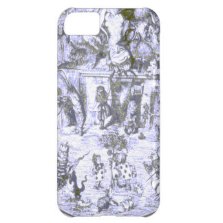 Alice & the Wonderland Gang Blue Tint Cover For iPhone 5C