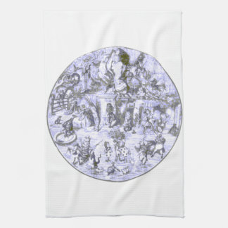 Alice & the Wonderland Gang Blue Tint Towel