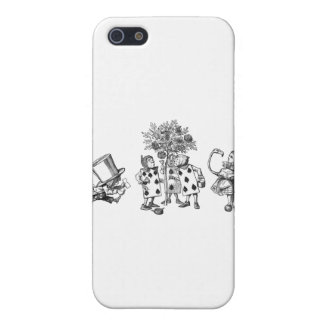 Alice & the Wonderland Gang in Black & White Cover For iPhone SE/5/5s