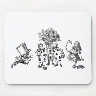 Alice & the Wonderland Gang in Black & White Mouse Pad