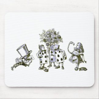Alice & the Wonderland Gang in Blue Tint Mouse Pad