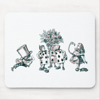 Alice & the Wonderland Gang in Pink Tint Mouse Pads