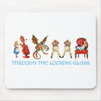 ALICE THROUGH TH ELOOKING GLASS MOUSE PAD