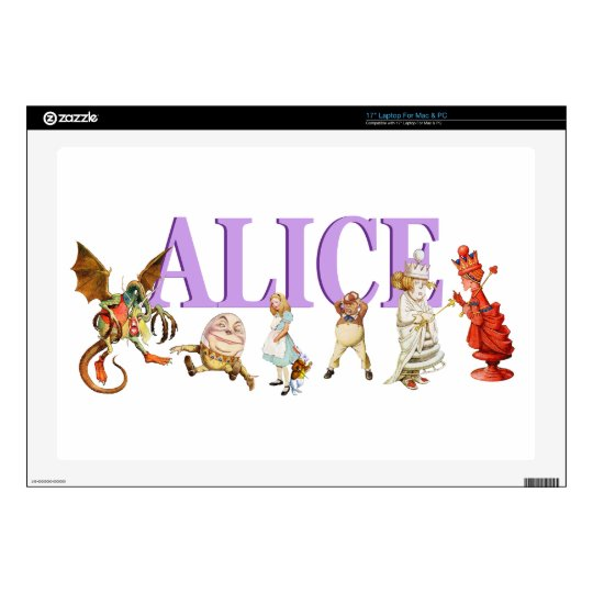 "Alice Through The Looking Glass 17"" Laptop Decal"