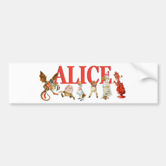 Alice Through the Looking Glass Bumper Sticker
