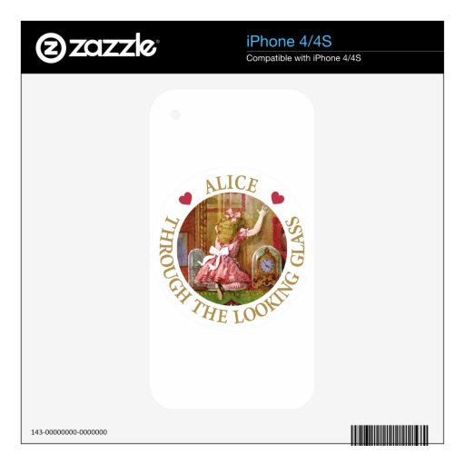 Alice Through The Looking Glass iPhone 4 Decal