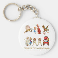 ALICE THROUGH THE LOOKING GLASS KEYCHAIN