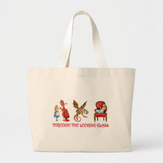 ALICE THROUGH THE LOOKING GLASS LARGE TOTE BAG