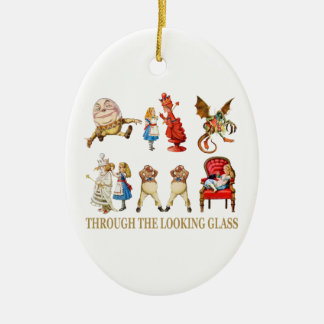 Alice Through the Looking Glass Christmas Ornament