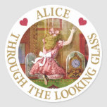 Alice Through The Looking Glass Round Stickers
